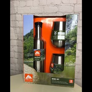 BN Ozark Trail Wine Bottle and Glass Set - 3 pc